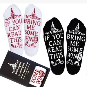 Accessories - Bring Me Some Wine 2 Pairs Novelty Socks Sz 6-12